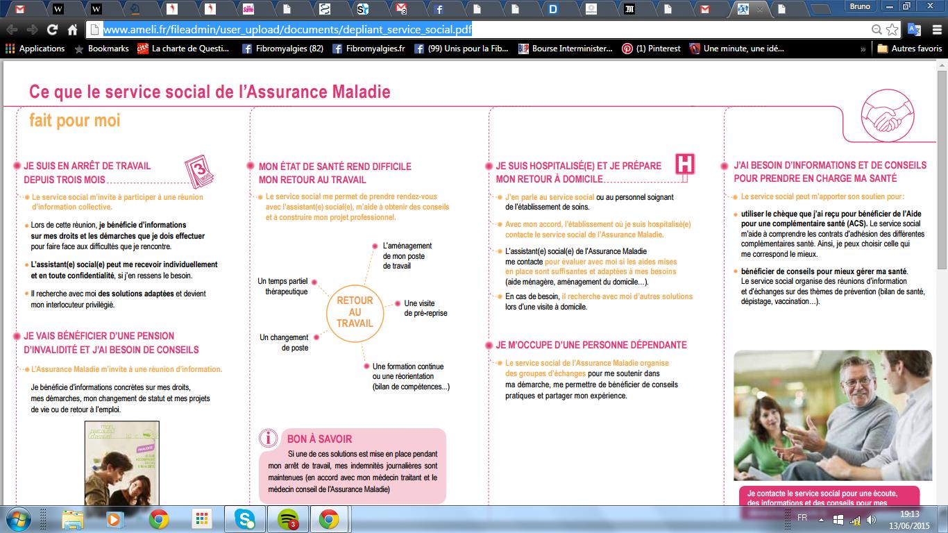 service social assurance maladie
